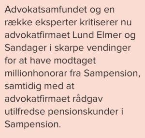 Det ærlige advokat firma Lund Elmer Sandager